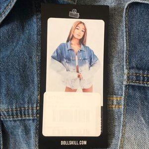 Dolls Kill Jackets & Coats - Oversized dip dye denim jacket